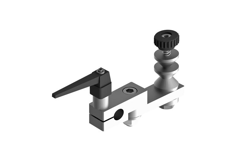 Rocker arm radius grinding attachment for engine valves