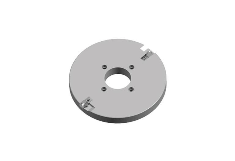 "Dimensions 410 mm (16"") 1/2"" CBN or PCD milling plate"